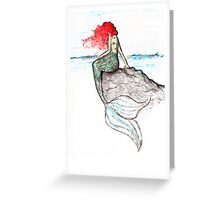 Mermaid - intense color version Greeting Card