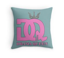 DQ logo in pink Throw Pillow