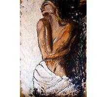 Weiblicher Akt mit Tuch Photographic Print