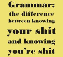 Grammar: The Difference Between Your and You're Kids Tee