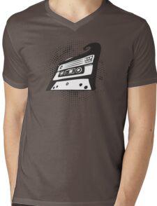 Cassette (black) Mens V-Neck T-Shirt