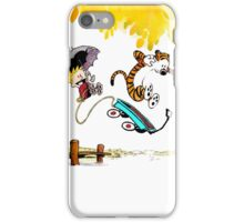 Calvin and Hobbes Playing Water iPhone Case/Skin