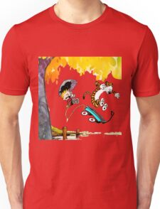 Calvin and Hobbes Playing Water Unisex T-Shirt