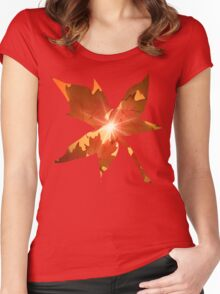 Fall Season Autumn Leaves  Women's Fitted Scoop T-Shirt
