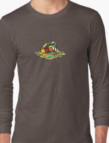 Melted Rubik's Cube Long Sleeve T-Shirt