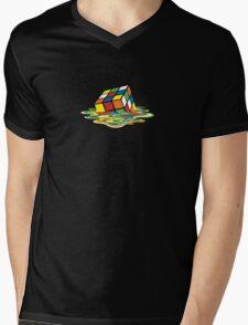 Melted Rubik's Cube Mens V-Neck T-Shirt
