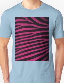 Pink Leather skin of zebra patterned background Unisex T-Shirt