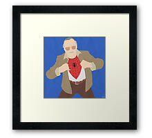 Stan Lee (Simplistic) Framed Print