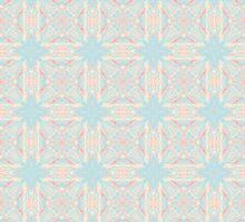 Vintage Blue and Ivory Lace II Sticker