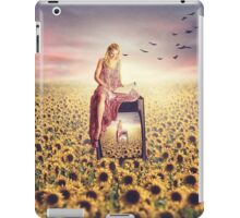 Emma and the sunflowers iPad Case/Skin