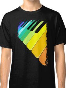 Piano Keyboard Rainbow Colors  Classic T-Shirt