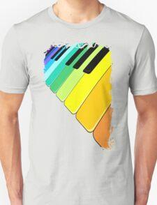 Piano Keyboard Rainbow Colors  Unisex T-Shirt