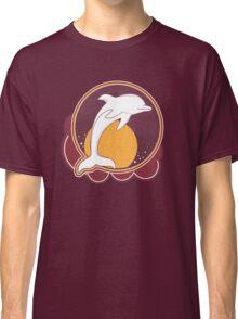 Dolphin Sun Orange Classic T-Shirt