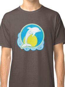 Dolphin Sun Yellow Classic T-Shirt