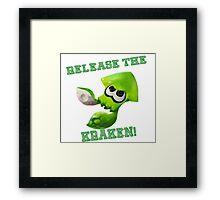 Splatoon - Release the Kraken! Framed Print