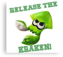 Splatoon - Release the Kraken! Canvas Print
