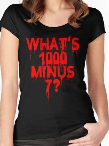 What's 1000 minus 7? Women's Fitted Scoop T-Shirt