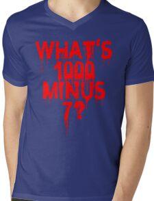What's 1000 minus 7? Mens V-Neck T-Shirt