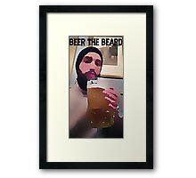 beer the beard Framed Print