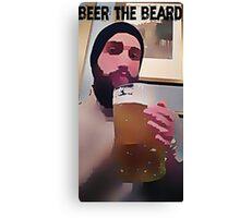 beer the beard Canvas Print