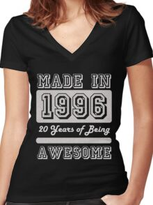 Made in 1996 Women's Fitted V-Neck T-Shirt