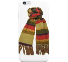 Doctor Who Scarf (Fourth Doctor) iPhone Case/Skin