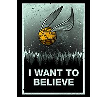 I want to believe in magic Photographic Print