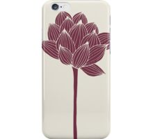 Elegant  engraving lotus iPhone Case/Skin