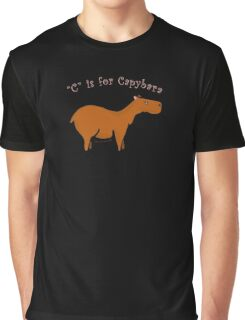 C is for Capybara Graphic T-Shirt