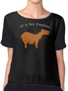 C is for Capybara Chiffon Top