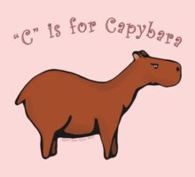 C is for Capybara One Piece - Short Sleeve