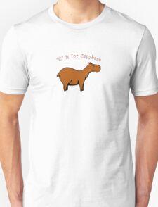 C is for Capybara Unisex T-Shirt
