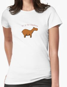 C is for Capybara Womens Fitted T-Shirt