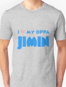 I HEART MY OPPA JIMIN  - BLACK  Unisex T-Shirt