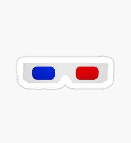3-D Glasses Sticker