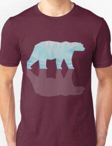 Diamond (low poly) Polar Bear Illustration Unisex T-Shirt