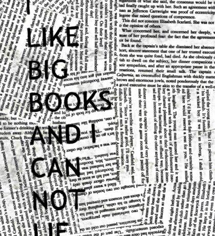 I Like Big Books And I Can Not Lie Sticker