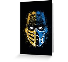 Scorpion vs Sub-Zero Greeting Card
