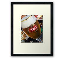 Stella Artrois Beer Glass Framed Print