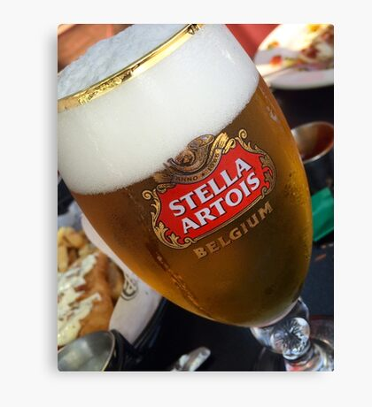 Stella Artrois Beer Glass Canvas Print