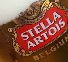 Stella Artrois Beer Glass Sticker