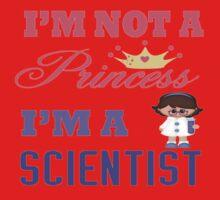 I'm not a Princess I'm a Scientist  Kids Tee