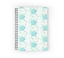 Turquoise flower multiplication Spiral Notebook