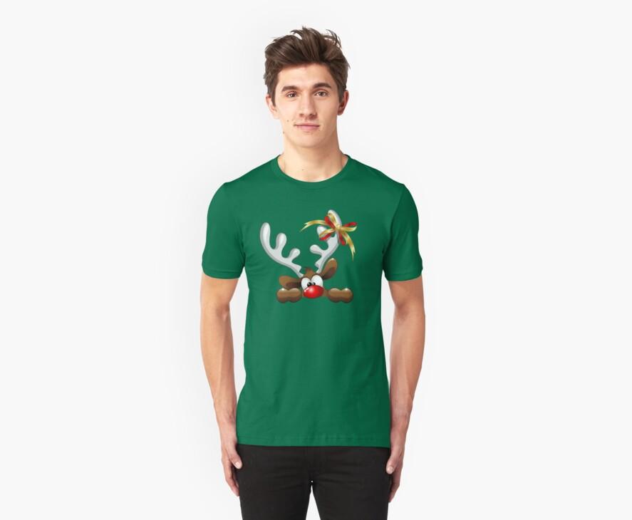 Funny Christmas Reindeer Cartoon by BluedarkArt