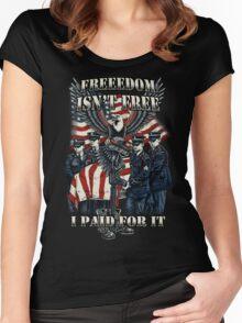 Veteran-Freedom Isn't Free Women's Fitted Scoop T-Shirt