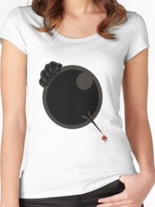 ONE PIECE - LUFFY FIST ( gear3 ) Women's Fitted Scoop T-Shirt