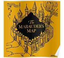 Marauder's Map Harry Poster