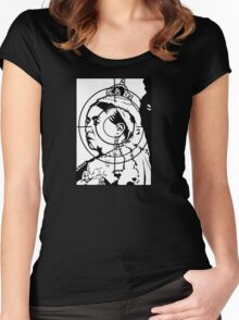Black Archive #6 Women's Fitted Scoop T-Shirt