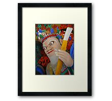 Korean Temple Guardian Framed Print
