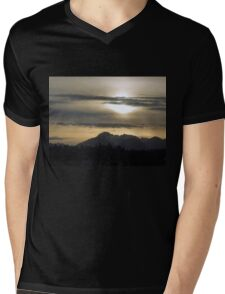 The Olympic Mountains Mens V-Neck T-Shirt